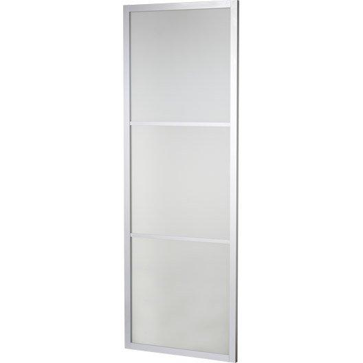 porte coulissante aluminium gris aspen artens x l. Black Bedroom Furniture Sets. Home Design Ideas