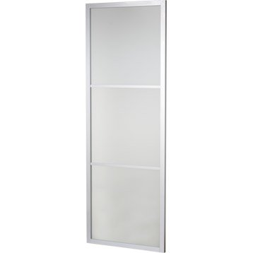 Porte coulissante aluminium Aspen gris ARTENS, H.204 x l.73 cm