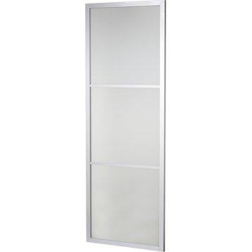 Porte coulissante aluminium gris Aspen ARTENS, H.204 x l.73 cm