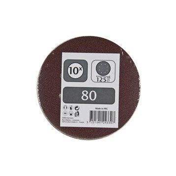 Lot de 10 disques abrasifs, 125 mm, grains 80