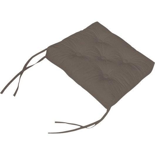 galette de chaise cl a brun taupe n 3 40 x 40 cm. Black Bedroom Furniture Sets. Home Design Ideas