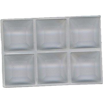 Lot de 6 amortisseurs plastique H.0.85 x L.1.9 x Diam.1.9 cm