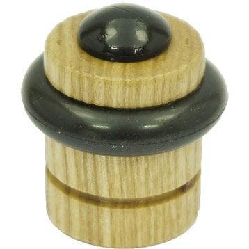 Butée de porte bois teinté H.4.2 x L.3.7 x Diam.3.7 cm