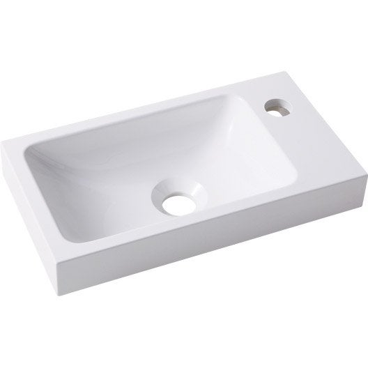Lave mains r sine blanc x cm simoun leroy merlin - Lave main d angle leroy merlin ...