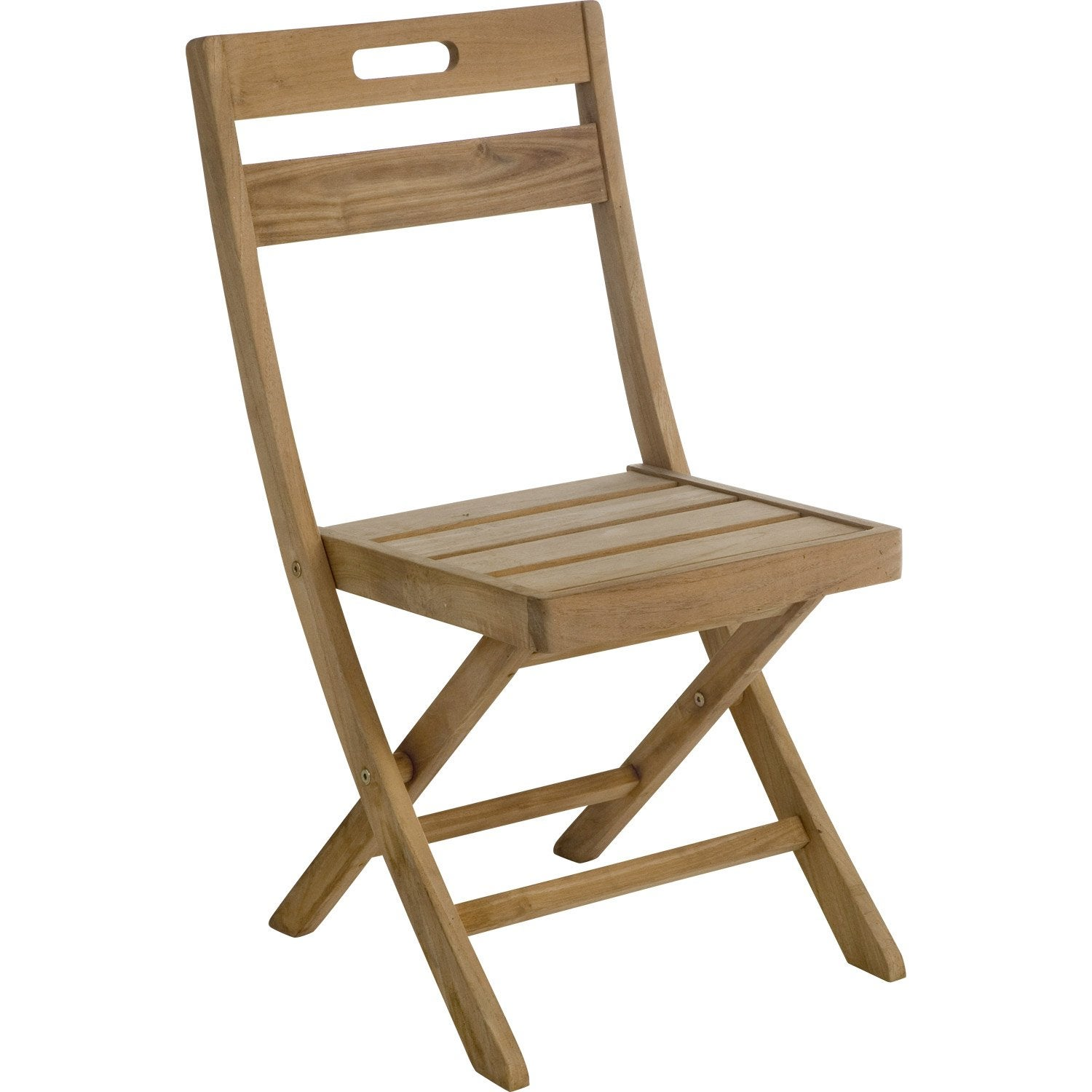 Lot De 2 Chaises De Jardin En Bois Resort Naturel Leroy Merlin