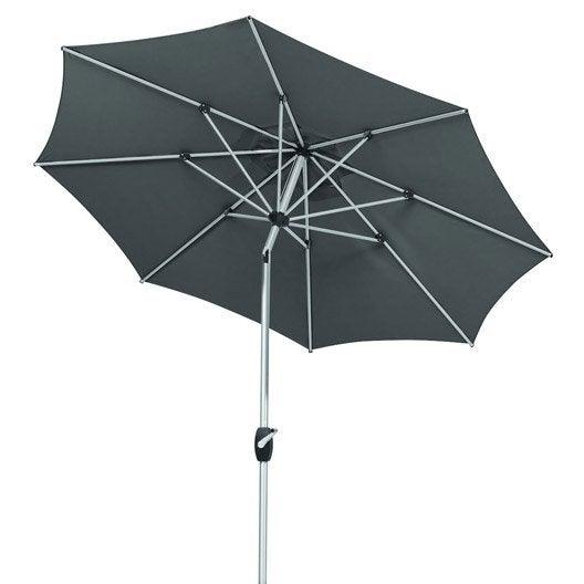 parasol droit venedig schneider anthracite m leroy merlin. Black Bedroom Furniture Sets. Home Design Ideas