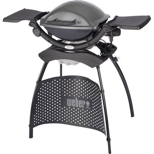 barbecue lectrique weber q 1400 stand gris anthracite leroy merlin. Black Bedroom Furniture Sets. Home Design Ideas