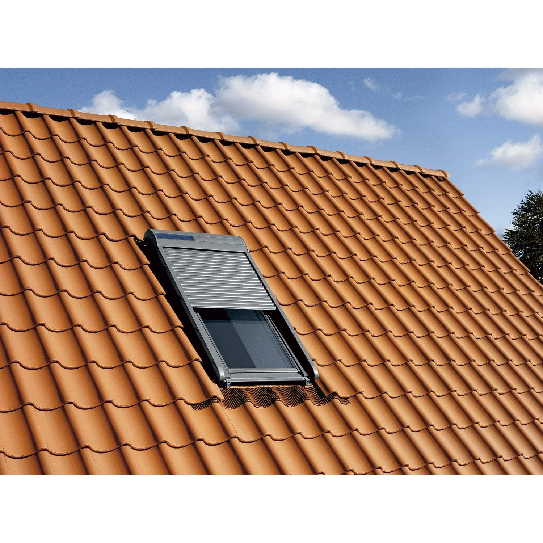 volet fen tre de toit roulant nergie solaire velux ssl mk06 leroy merlin. Black Bedroom Furniture Sets. Home Design Ideas