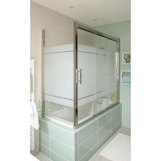 Pare baignoire salle de bains leroy merlin Pare baignoire coulissant