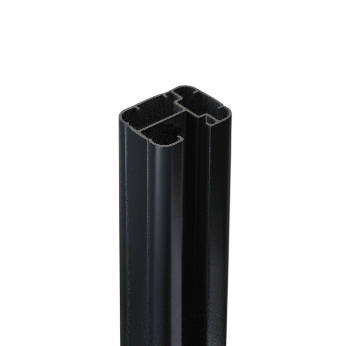 poteau aluminium sceller premium gris anthracite x x cm leroy merlin. Black Bedroom Furniture Sets. Home Design Ideas