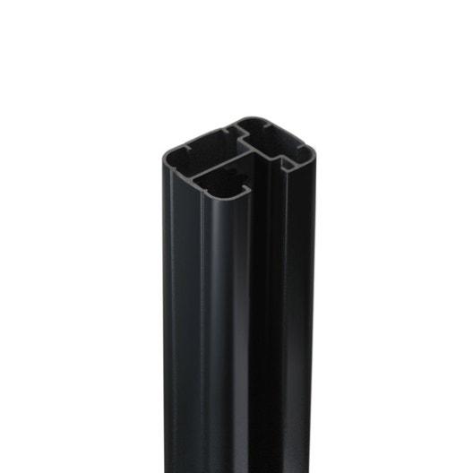 poteau aluminium sceller premium gris anthracite. Black Bedroom Furniture Sets. Home Design Ideas