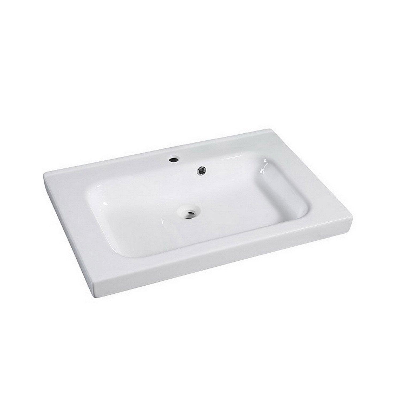 Plan De Toilette Hydrofuge plan vasque simple remix céramique 76 cm