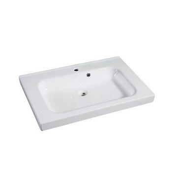 Plan vasque simple Remix Céramique 76 cm