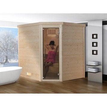 Sauna traditionnel 3 places, modèle Lahti OS WEKA, livraison incluse