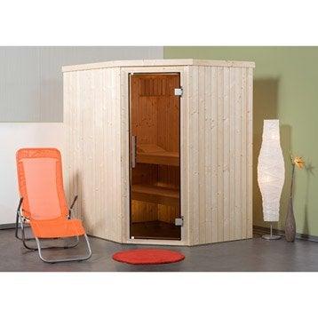 Sauna traditionnel 3 places, modèle Kasala 1 OS Exclusiv WEKA, livraison incluse