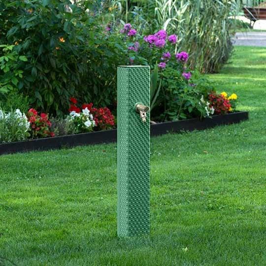 fontaine de jardin en fonte dommartin pixel vert sabl h92cm 36kg leroy merlin. Black Bedroom Furniture Sets. Home Design Ideas