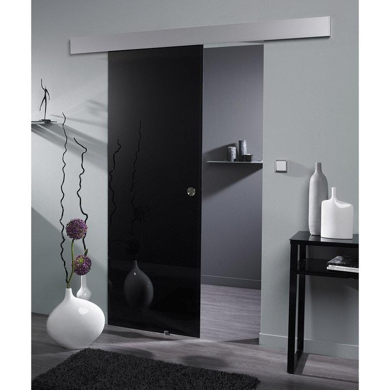 porte coulissante verre feuillet vegas artens 204 x 83 cm leroy merlin. Black Bedroom Furniture Sets. Home Design Ideas