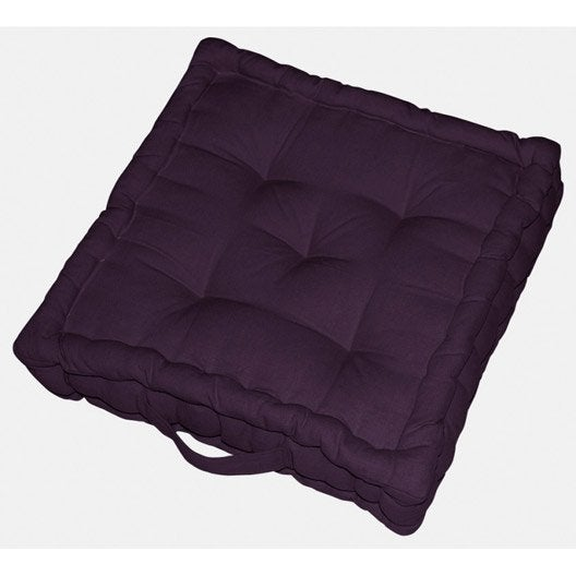 coussin de sol cl a inspire violet aubergine n 1 x. Black Bedroom Furniture Sets. Home Design Ideas