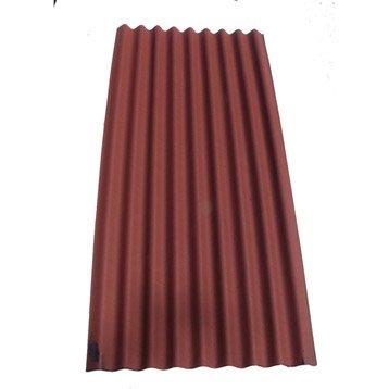Plaque ondulé bitumée rouge IKO Easy topline l.0.86 x L.2 m
