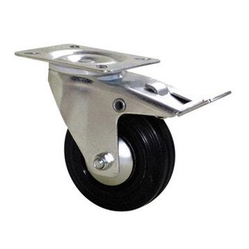 roulette pivotante freins platine diam125 mm - Roulette Pour Table Basse
