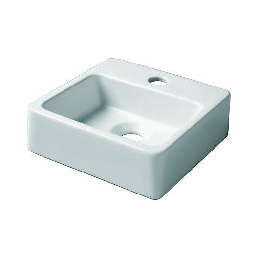 Lave mains neptune c ramique blanc 29 x 28 cm leroy merlin - Lave main d angle leroy merlin ...