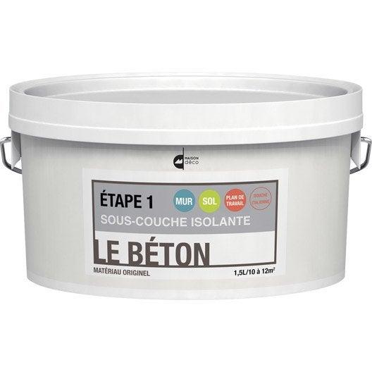 Peinture effet le b ton maison deco blanc 1 5 l - Peinture effet beton leroy merlin ...
