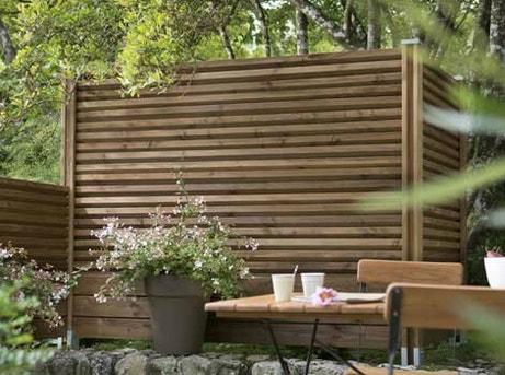 Tout savoir sur les panneaux en bois leroy merlin Installer un paravent de terrasse