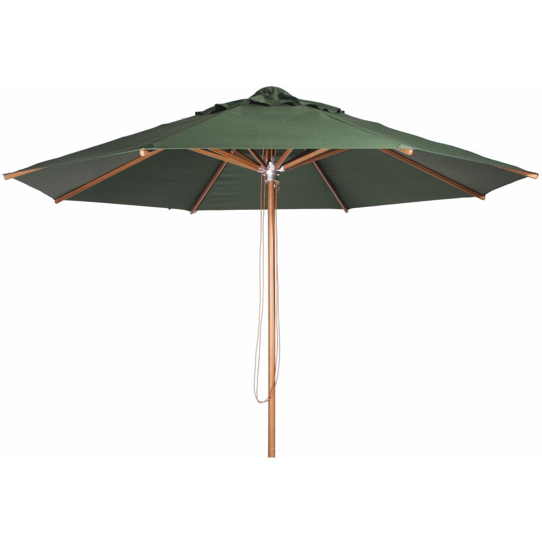 Parasol droit Metis vert foncé octogonal, L.350 x l.350 cm | Leroy