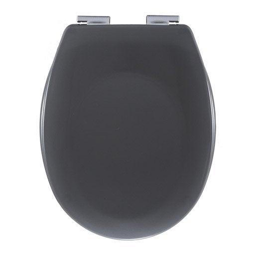Abattant frein de chute gris plastique thermodur sensea sparta leroy merlin - Abattant wc frein de chute leroy merlin ...