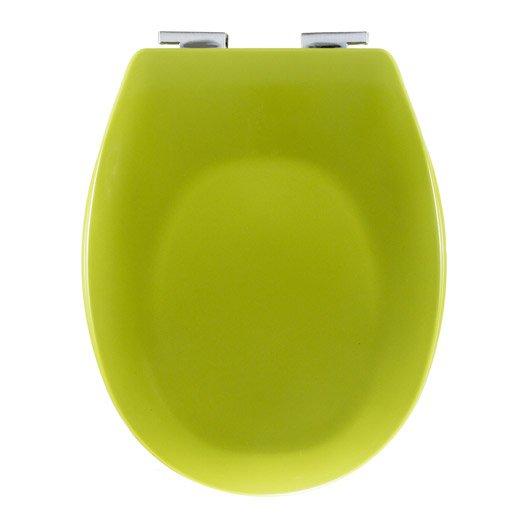 Abattant frein de chute jaune anis plastique thermodur sensea sparta leroy - Abattant wc frein de chute leroy merlin ...