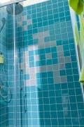 Salle de bains Blanc / Beige / Naturel Bleu