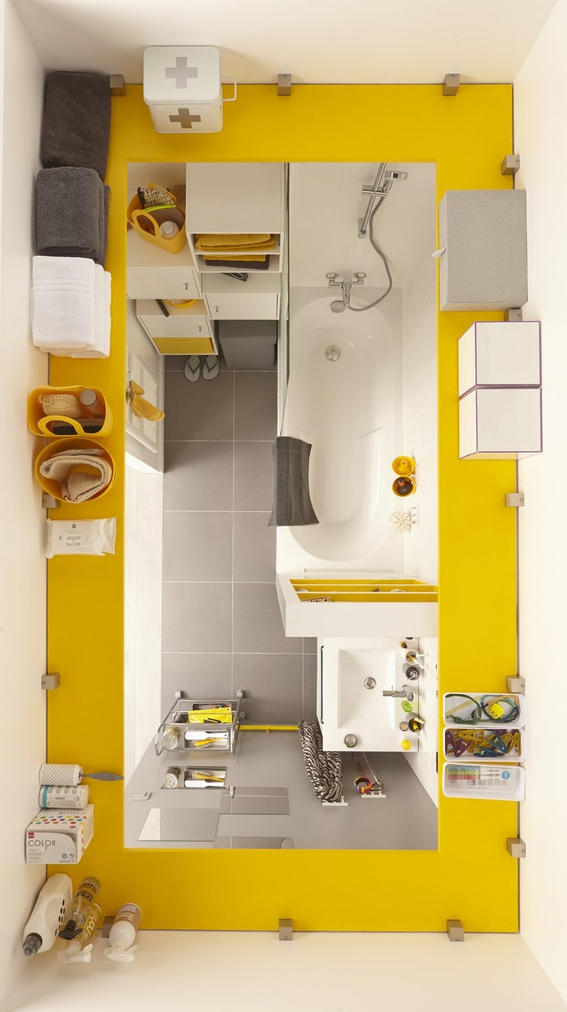 optimiser l 39 espace dans une petite salle de bains leroy. Black Bedroom Furniture Sets. Home Design Ideas