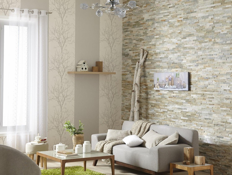 Un salon de style nature | Leroy Merlin
