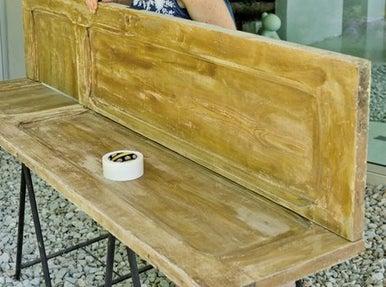 Diy fabriquer tag re d angle partir d une porte leroy merlin - Fabriquer bureau d angle ...