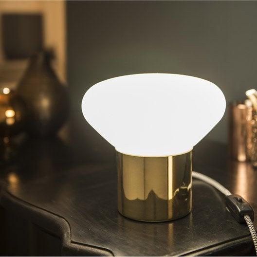 lampe, e14 taku inspire, verre blanc, 40w w | leroy merlin