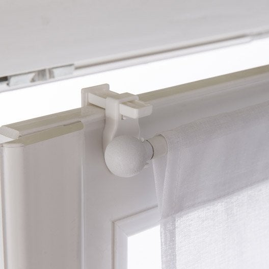 vitrage tamisant petite hauteur leo blanc blanc n 0 x cm leroy merlin. Black Bedroom Furniture Sets. Home Design Ideas