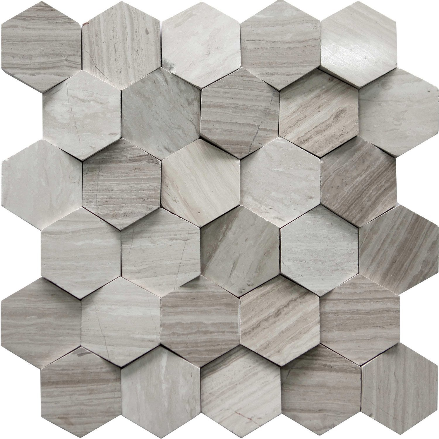 Mosaïque mur Hexagone cottage beige