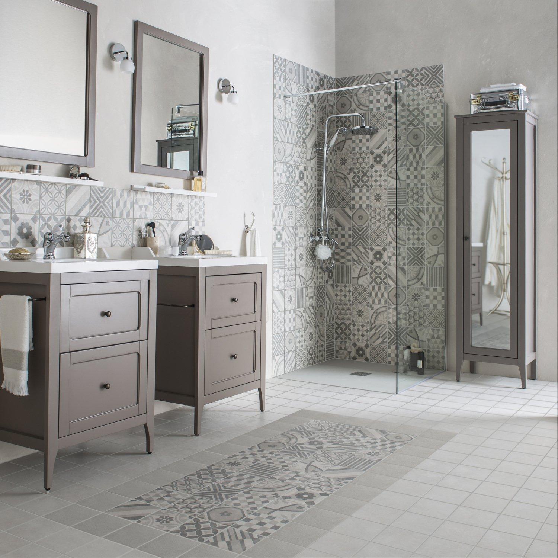 un style campagne dans la salle de bains leroy merlin. Black Bedroom Furniture Sets. Home Design Ideas