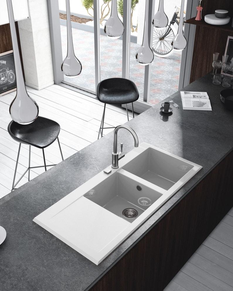 un vier encastrer blanc leroy merlin. Black Bedroom Furniture Sets. Home Design Ideas