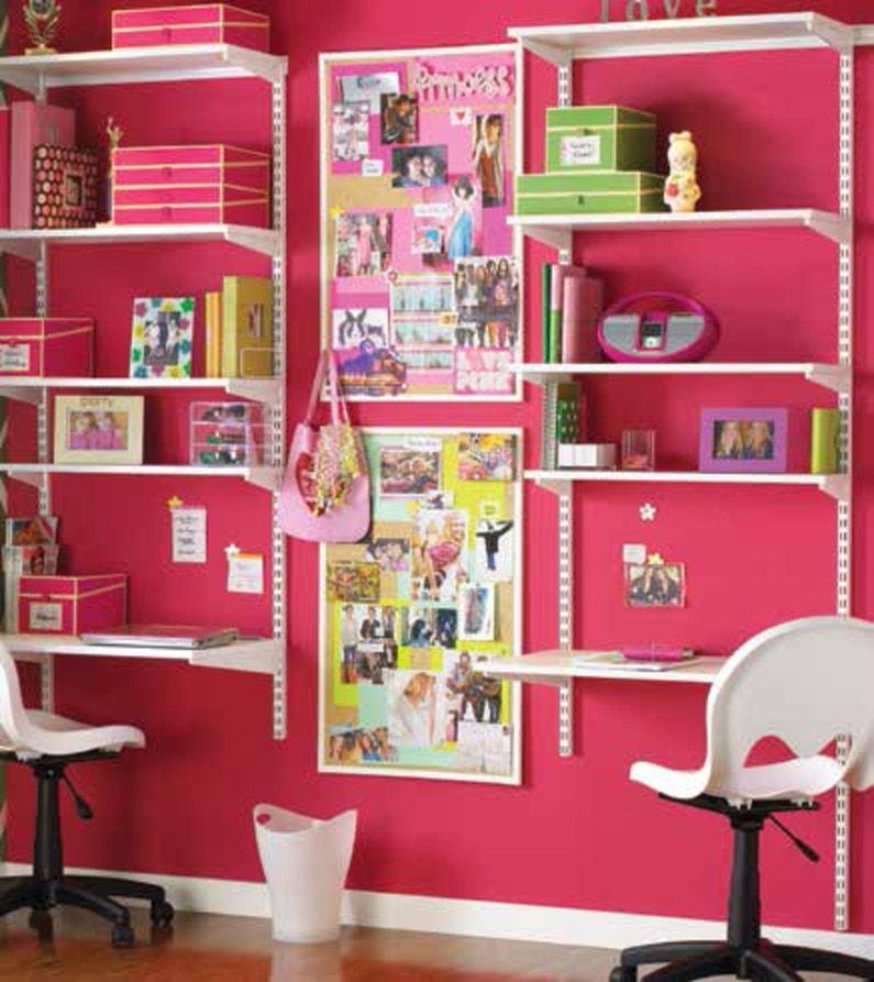 des tag res de rangement pour le bureau de vos enfants leroy merlin. Black Bedroom Furniture Sets. Home Design Ideas