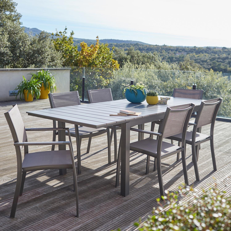 salon-de-jardin-salerno-gris-6-personnes Luxe De Salon De Jardin Pour Balcon Conception