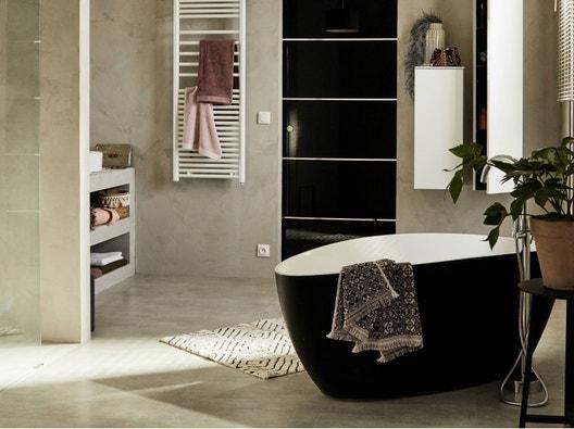 Le béton ciré dans la salle de bains | Leroy Merlin