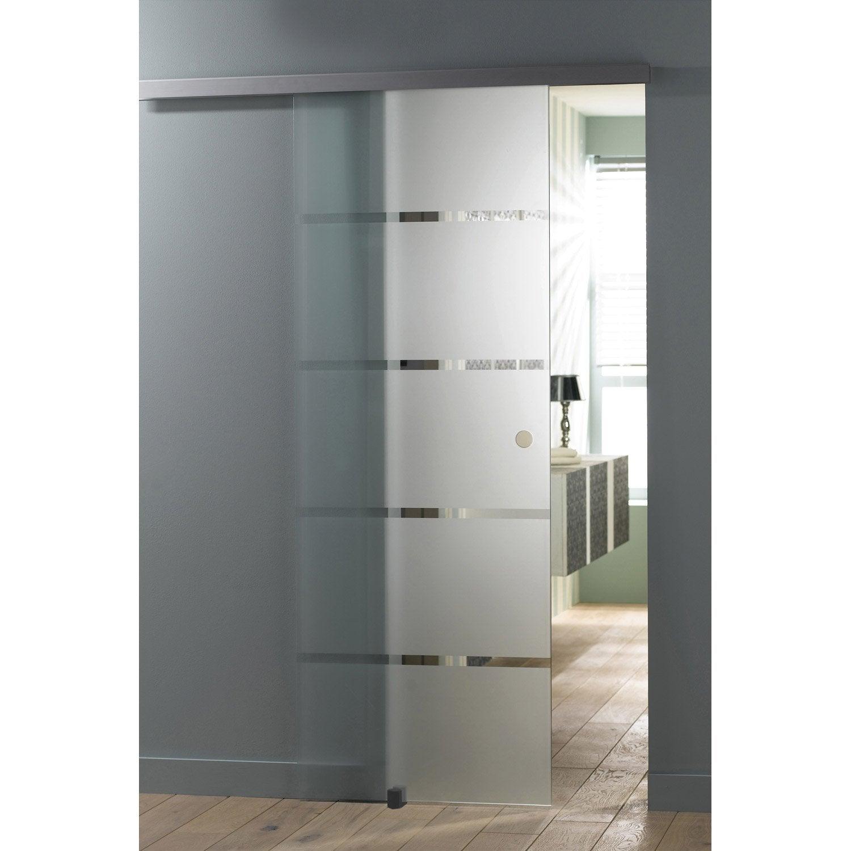 Porte coulissante verre tremp miami artens 204 x 83 cm for Porte a scomparsa prezzi leroy merlin