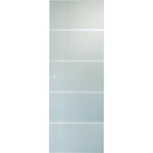 Porte coulissante verre trempe miami artens 204 x 73 cm for Porte de garage coulissante et porte intérieure 3 panneaux