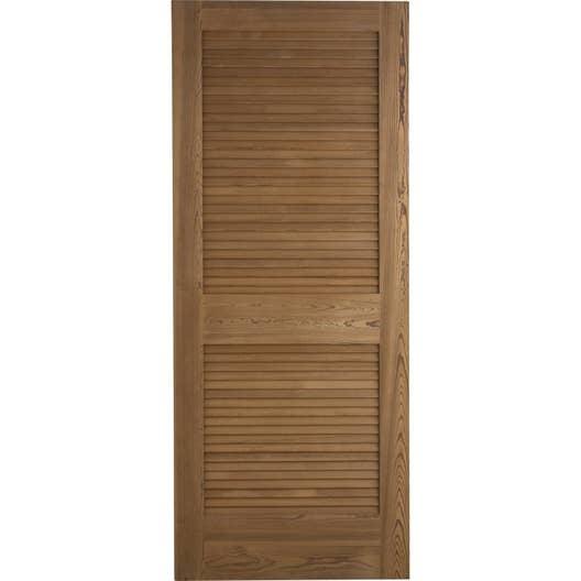 porte coulissante pin plaqu marron java artens 204 x 83. Black Bedroom Furniture Sets. Home Design Ideas