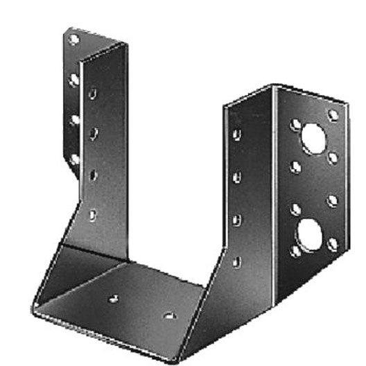 support de poteau forme u galvanis gah alberts 60x80 mm leroy merlin. Black Bedroom Furniture Sets. Home Design Ideas