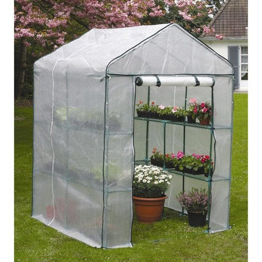 Serre de balcon nortene x x cm leroy merlin - Film plastique anti uv pour serre de jardin ...