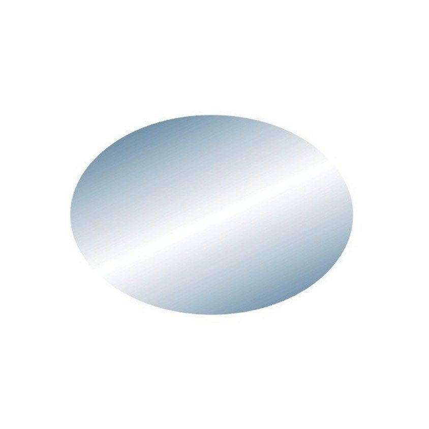 Miroir non lumineux d coup ovale x cm oval for Miroir lumineux 50 cm