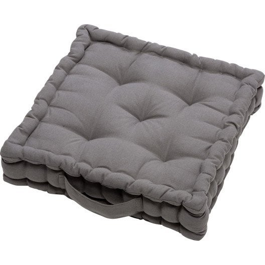 coussin de sol cl a gris galet n 3 40 x 40 cm leroy merlin. Black Bedroom Furniture Sets. Home Design Ideas
