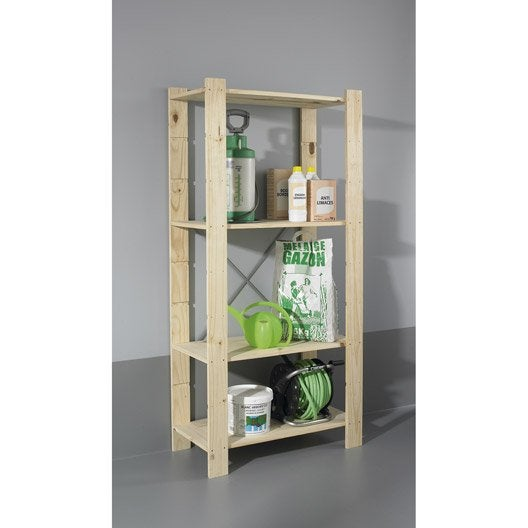 Etag re pin 4 tablettes x x cm leroy merlin - Leroy merlin etagere metal ...
